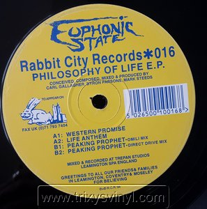 Click to view Euphonic State - Philosophy Of Life E.p.